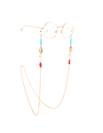 Gold Metal Thousand Flower Shell Conch Glasses Chain