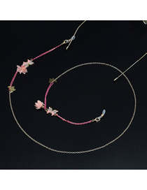 Pink Butterfly Flower Glasses Chain