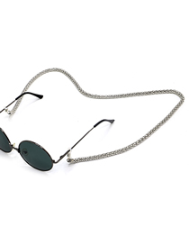 Silver Metal Eye Anti-slip Glasses Chain Lengthened And Thickened 6.0mm