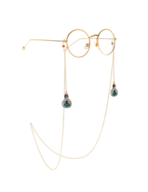 Gold Hang Neck Fishing Boat Black Cat Bulb Chain With Glasses Chain