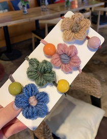 G Flower Jelly Beans / Set Of 4 Plush Geometric Hair Rope  Rubber Band