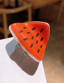 Watermelon Cartoon Fruit Hairpin Trumpet  Resin