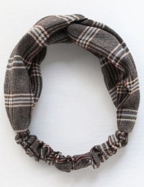 Cross Fabric Circumference Is About 52cm Plaid Contrast Hair Band  Cloth