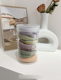 Fresh Color Stripe -10 Colorful Towel Ring 10 Pieces