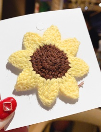Sunflower / Bb Clip Fruit Wool Knit Hair Clip  Alloy