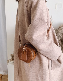 Fashion Brown Trumpet Stone Pattern Shoulder Slung Tote