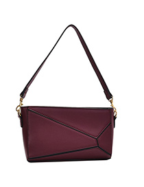 Fashion Fuchsia Splicing Single Shoulder Messenger Bag