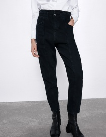 Fashion Black Paper Bag Jeans