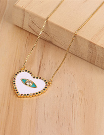 Fashion White Love Heart Necklace With Diamonds