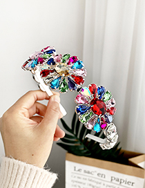 Fashion Color Alloy Diamond Flower Headband