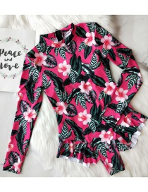 Fashion Foundation Print Triangle Printed Ruffled One-piece Swimsuit