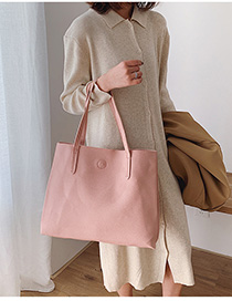 Fashion Pink Panelled Shoulder Bag