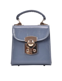 Fashion Blue Locked Shoulder Crossbody Bag