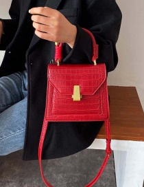 Fashion Red Stone Shoulder Crossbody Tote