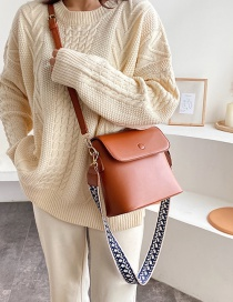 Fashion Brown Wide Shoulder Strap Shoulder Bag