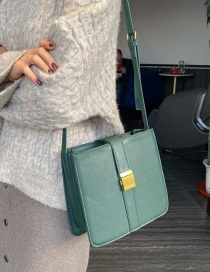 Fashion Green Locked Shoulder Crossbody Bag
