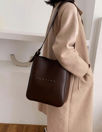 Fashion Coffee Color Letter Shoulder Crossbody Bag