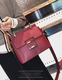 Fashion Red Frosted One Shoulder Crossbody Bag