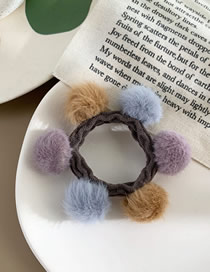 Fashion Coffee Color Hair Ball Hit Color Hair Rope