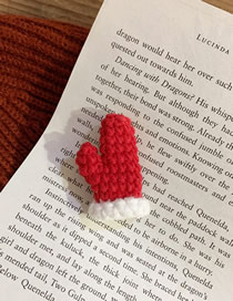 Fashion Red Gloves Wool Gloves Brooch