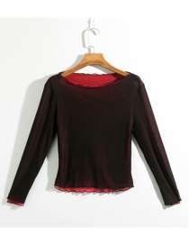 Fashion Brown Colorblock Sweater Sweater