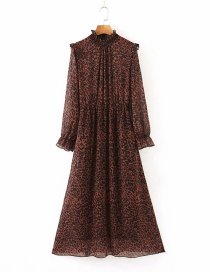 Fashion Leopard Print Printed Ruffle Dress