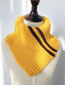 Fashion Yellow Contrast Wool Neck Scarf For Children