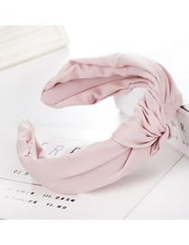Fashion Pink Cross-knotted Wide-edged Headband