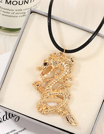 Fashion Golden Zodiac Dragon Necklace