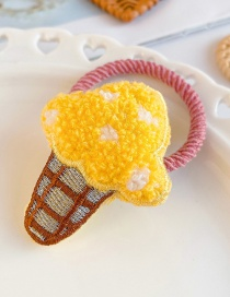 Fashion Yellow Ice Cream-hair Rope Ice Cream Child Hair Rope