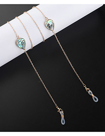 Fashion Golden Drop-shaped Shell Glasses Chain