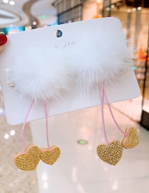 Fashion White Love Section 1 Pair Plush Star Children's Hair Clip