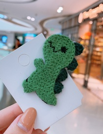 Fashion Little Green Dinosaur Dinosaur Children Hairpin
