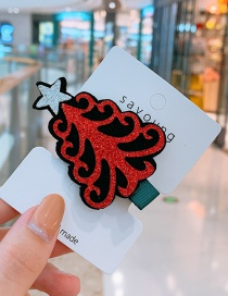 Fashion Red Christmas Tree Christmas Tree Child Hairpin