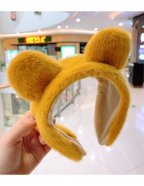 Fashion Ginger Kitten Ears Plush Children's Hair Hoop