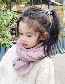 Fashion Korean Pink Cactus Alphabet Children Scarf
