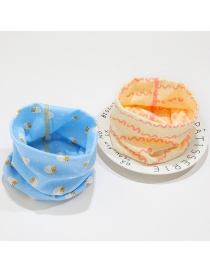 Fashion 6 # Blue Lamb + Pink Yellow Wave (2 Pieces) Lamb Geometric Kids Collar Set