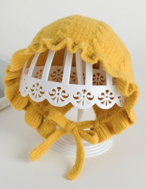 Fashion 7 # Palace Lace-yellow Baby Hat With Strap
