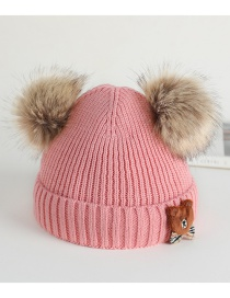 Fashion Suit Fur Ball Bear Baby Hat