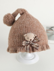 Fashion Brown Bow Bear Baby Hat