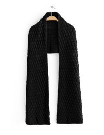 Fashion Black Pineapple Knitted Scarf