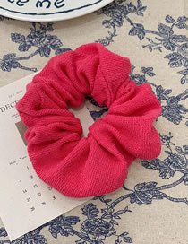 Fashion Rose Red Cloth Knitted Hair Rope