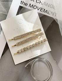 Fashion Size Diamond Gold/3 Pack Diamond Hair Clip Set