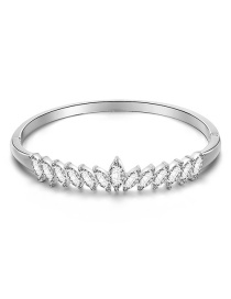 Fashion Silver Alloy Bangle With Diamonds