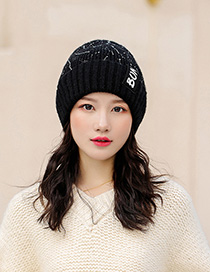 Fashion Black Graffiti Cloth Knit Hat