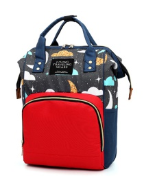 Fashion Blue With Red Multifunctional Printed Mummy Bag