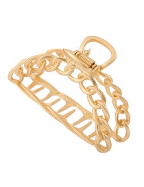 Fashion Golden Hollow Chain Gripper Clamp