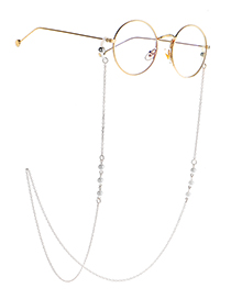 Fashion Silver Pearl Chain Glasses Chain