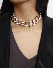 Fashion Golden Geometric Chain Metal Necklace