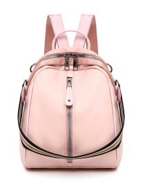 Fashion Pink Oxford Cloth Stitching Backpack